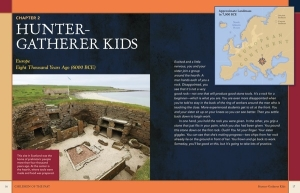 spread from archaeology book for kids Children of the Past