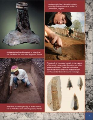 page from archaeology book for kids Children of the Past